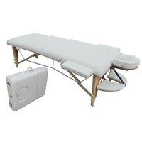 Mod 3 Ahşap Beyaz Masaj Masası Masaj Aleti