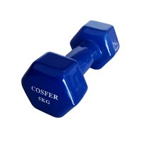Cosfer Cosfer 5Kg Vinyl Kaplı Demir Dambıl Mavi Dumbell (Dambıl) Setler