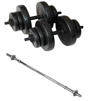 Delta 28 Kg Vinyl Kaplı Dura-Strong Plaka Bar Set